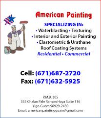 logo american painting company logo by american painting in yigo