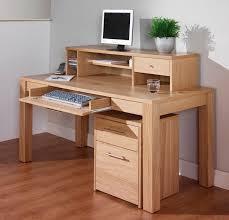 office desk computer. Nice Oak Computer Office Desk With Shelf Also Drawer As Storage On K