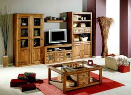 cheap living room decoration with ructic wooden cabinet design