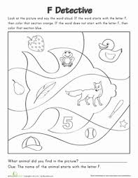 finding letter phonics letter f