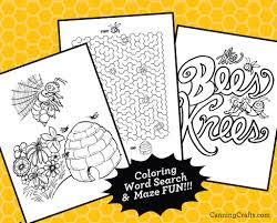Free printable bumble bee coloring pages for kids. Printable Honey Bee Coloring Pages Games Wearable Honey Bee Mask Canningcrafts