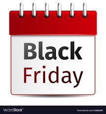 Black Friday Sale Calendar On White Background