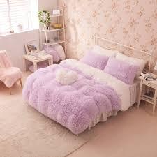 girl full size bedding sets pink color bedclothes princess girls bedding set for full size bed