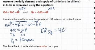 calculating exchange rates from linear equations part 1