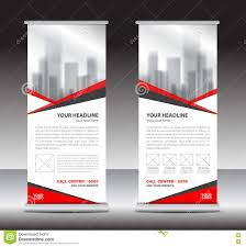 red roll up banner business brochure flyer banner design stock red roll up banner business brochure flyer banner design