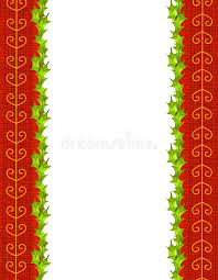 gold ribbon border holly leaves and gold ribbon border stock illustration