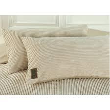 corduroy and cotton ivory 4 piece duvet cover set