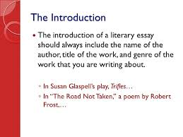 writing the literary essay ppt video online  5 the introduction