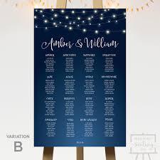 Midnight Lights Wedding Seating Chart