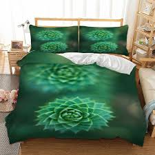 plant 3d bedding set twin full queen king uk double au single size green duvet cover pillow cases fresh bedclothes matelasse bedding white and grey bedding