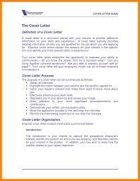 Resume Cover Letter Definition Choppix