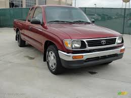 1996 Sunfire Red Pearl Toyota Tacoma Extended Cab #47157431 Photo ...