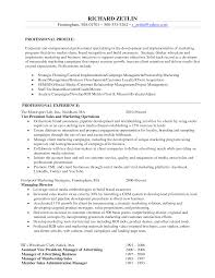 sample resume objective for marketing position shopgrat example marketing manager resume objective professional profile and experience sample resume