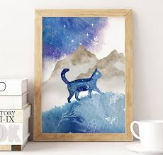 Watercolor Cat Print Printable Cat Lover Wall Art Cosmic | Etsy | Cat art  print, Watercolor cat, Watercolor galaxy