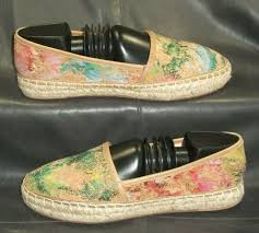 johnston murphy multi color leather espadrilles flats pumps women s shoes 6 m