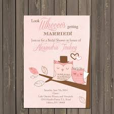 Couple Wedding Shower Invitations Owl Bridal Shower Invitation Owl Couple Wedding Shower