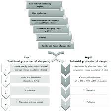 Industrial Production Of Vinegar Flow Chart Flowchart Showing The General Production Methods For Vinegar
