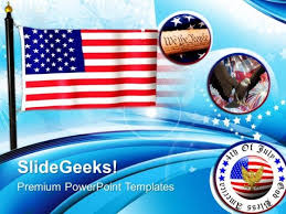 Flag Of United States Freedom American Powerpoint Templates