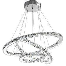 ANTILISHA <b>Modern Crystal Chandelier</b> Lighting Ceiling Dining ...