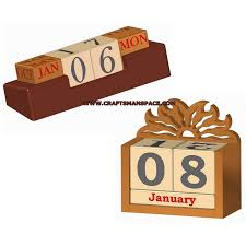 wooden perpetual calendars