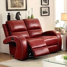 red reclining loveseat leather furniture of