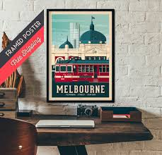 melbourne australia vintage travel poster framed poster wall art home decoration wall decoration gift idea retro print on home decor wall art au with melbourne australia vintage travel poster framed poster wall art