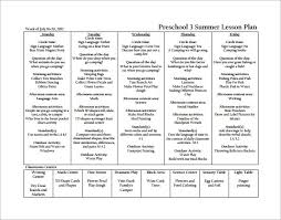 Sample Preschool Lesson Plan