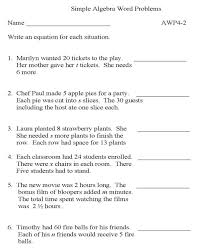 printable algebra worksheet math skills practice sheet