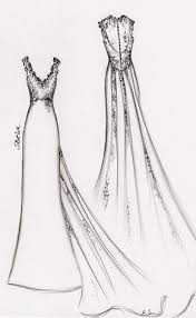 Sketching Clothing Wedding Dress Sketches Anna Schimmel