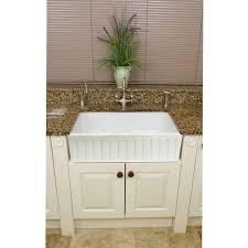 Fine Fixtures Fireclay Fluted Apron 29 inch White Farmhouse Kitchen