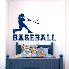 baseball wall decals for kids wall ideas home gym wall decals home gym wall  color black . baseball wall decals ...