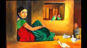 beautiful indian women in paintings pictures ilrations portraits