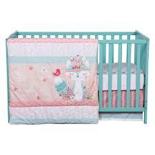 wild forever  piece crib bedding set  trend lab