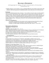 Pharmaceutical Sales Rep Resumes Sales Objective On Resume Simple Resume Format