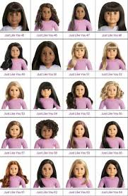 Visual Chart Of Truly Me Dolls American Girl Doll Names