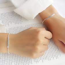 women s silver bracelets simple s925