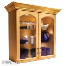 Glass In Kitchen Cabinet Doors Magnificent Convert Wood Cabinet Doors To Glass The Family Handyman