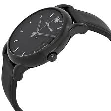 emporio armani classic black dial black leather strap mens watch item specifics
