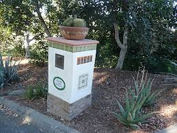 mexican tile house numbers and plaque in a mailbox mexican home decor projects gallery