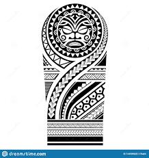 полинезийская картина эскиза плеча рукава татуировки самоанское