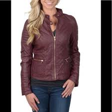 Ci Sono Quilted Moto Jacket