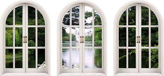 faux window wall decal huge 3d arched window enchanted garden view wall stickers mural art decal