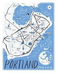portland maine tourist map  afputracom