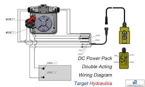 how to wire hydraulic power pack power unit diagram design how to wire dc motor double acting power pack