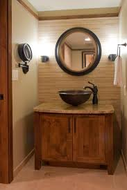 Rustic Bathroom Vanity Cabinets Rustic Modern Ideas Double Trough