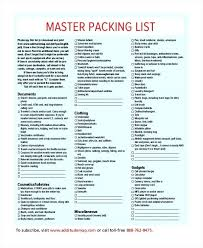 Template Free Blank Packing List Template Master Blank Packing