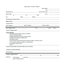 Free Incident Report Template Free Incident Report Form Template