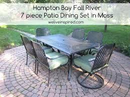 hampton bay 7 piece patio dining set belleville 7 piece patio dining set lovely 6 person