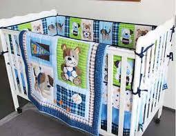 new 7 piece baby boy bedding set sports