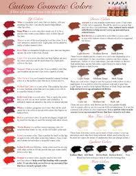 Custom Cosmetic Color Chart Brow Color Makeup Individual